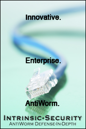 Intrinsic Security: Innovative.  Enterprise.  Antiworm.